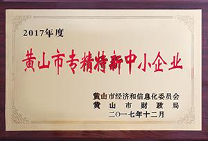 """<div align=""""center""""> 黃山專精特新 </div>"""
